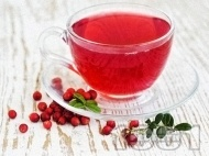 Рецепта Ароматен чай от червена боровинка